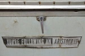 Rear badge 1967 Aristocrat Lo-Liner